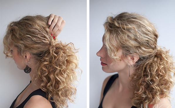 Прическа для коротких кудрявых волос в домашних условиях