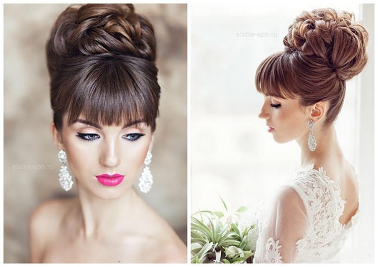 Зачіски на весілля з чубчиком. Частина 3