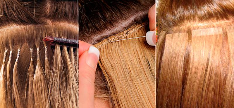 Ленточное наращивания волос в домашних условиях 89