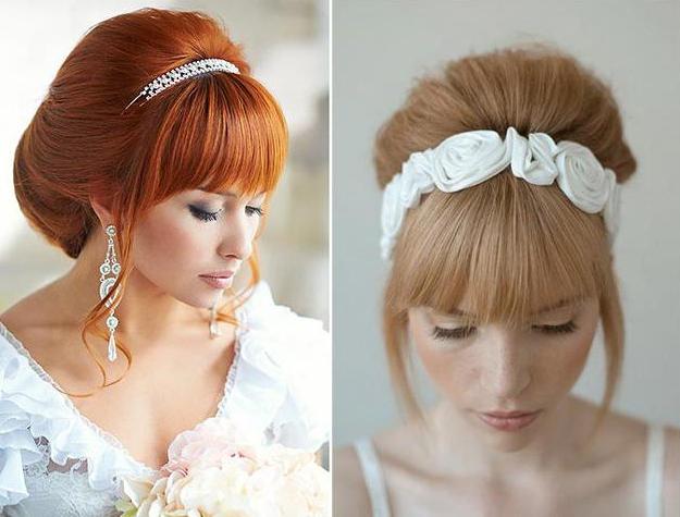 Зачіски на весілля з чубчиком. Частина 2
