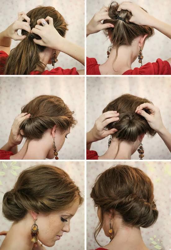Прически на средние волосы фото своими руками на каждый день пошаговое фото 77
