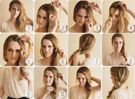 Быстро сделать прическу на длинные волосы в домашних условиях