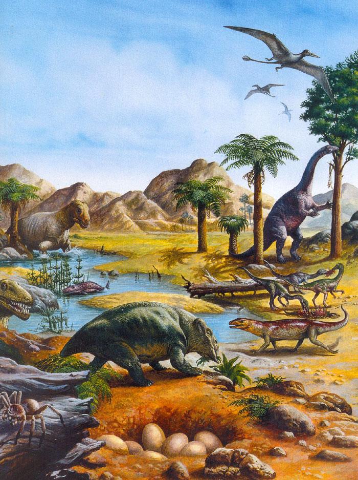 Плавність вулканічних вивержень допомогла динозаврам завоювати світ