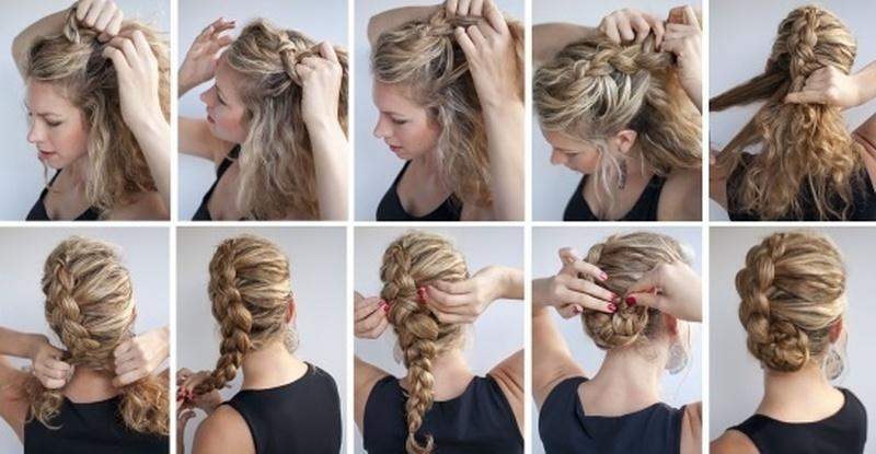 Прически из кос на длинные волосы в домашних условиях
